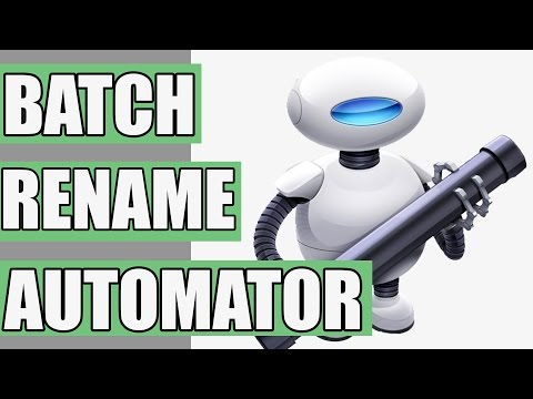 Batch Rename Files on a Mac - with Automator