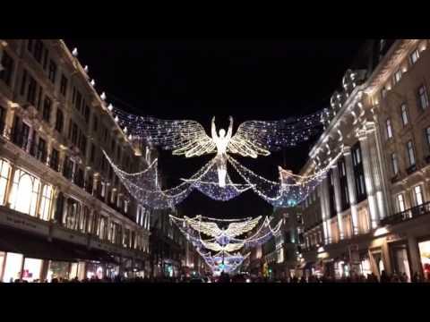 angel christmas lights on regent street 2016