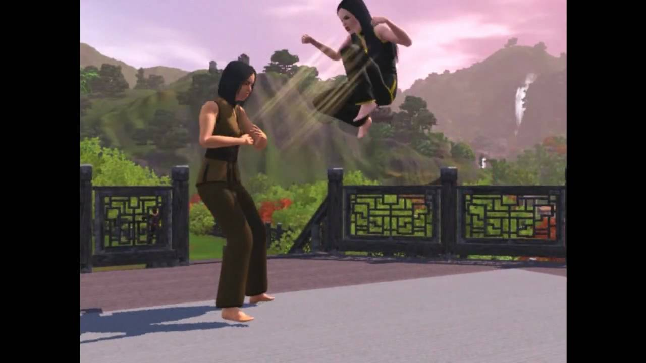 sims 3 martial art youtube