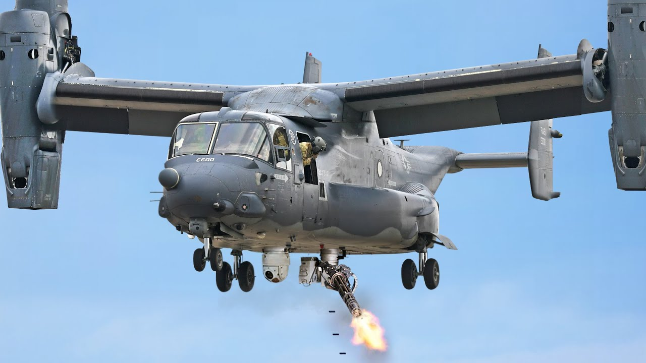 US Testing Gatling Turret Prototype on Its Transformer Helicopter