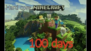 I survived 100 days hardcore minecraft