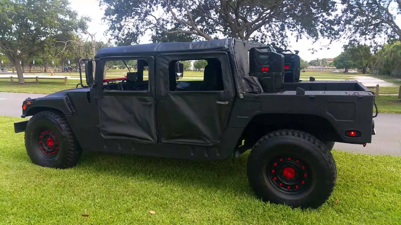 hummer h1 military humvee diesel for sale youtube. Black Bedroom Furniture Sets. Home Design Ideas