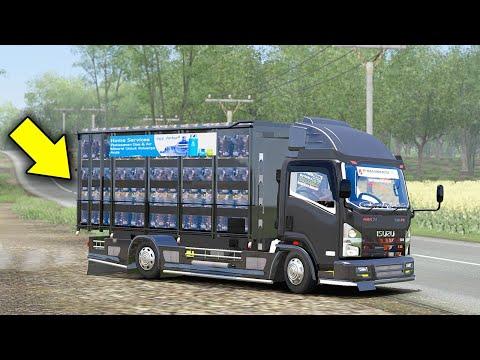 Perjalanan Truk Isuzu Mengantar Air Minum Ke Lampung - Euro Truck Simulator 2
