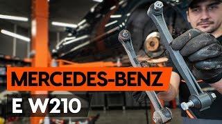 Kuinka vaihtaa takakoiranluu yhdystanko MERCEDES-BENZ E (W210) -merkkiseen autoon [AUTODOC]