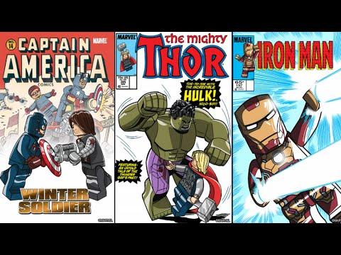 Lego Marvels Avengers All Comic Book Covers 100% Minikits / Perfect ...