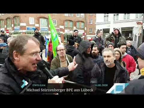 Heftige Beleidigungen gegen Stürzenberger bei BPE-Kundgebung in Lübeck