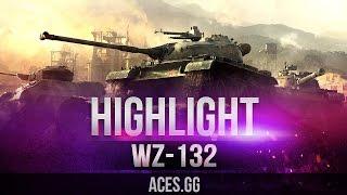 Светляк работает! WZ-132 в World of Tanks!