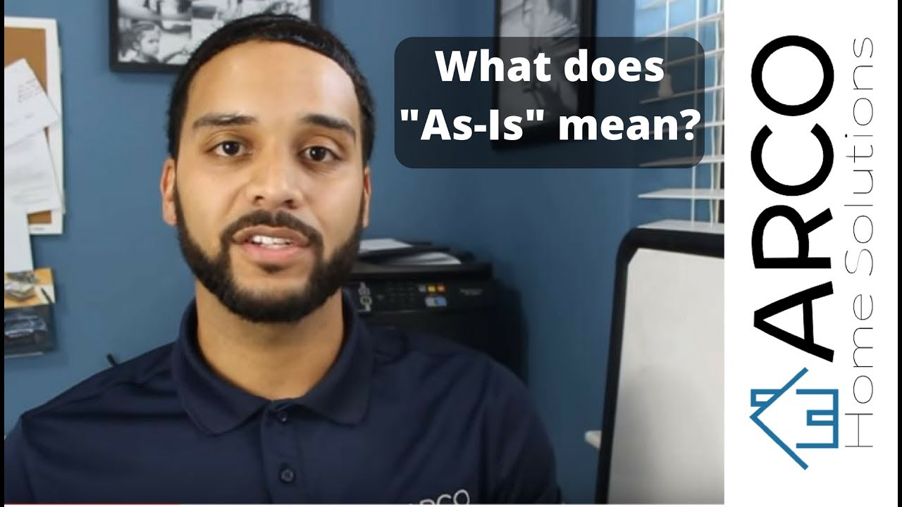 "What does ""As IS"" mean?"