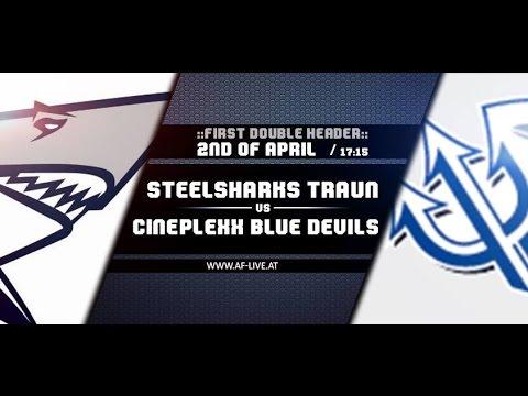 Steelsharks Traun vs Cineplexx Blue Devils - AF-Live