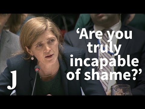 Samantha Power on Aleppo: 'Is there nothing that can shame you?'