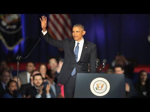 """Barack Obama fait ses adieux : """"L'Amérique est plus forte aujourd'hui"""""""