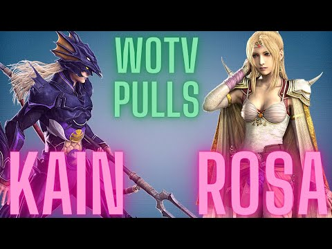WOTV Kain and Rosa FF4 pulls! | War of the Visions