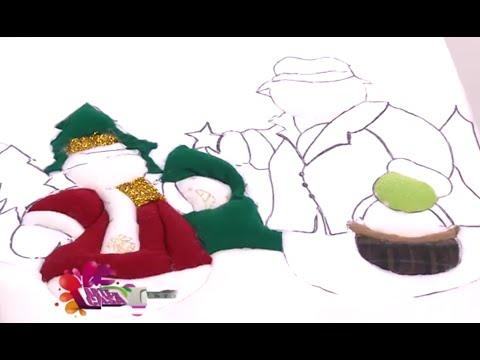Como hacer un Cuadro de Navidad en Icopor y Paño Lenci- Hogar Tv  por Juan Gonzalo Angel