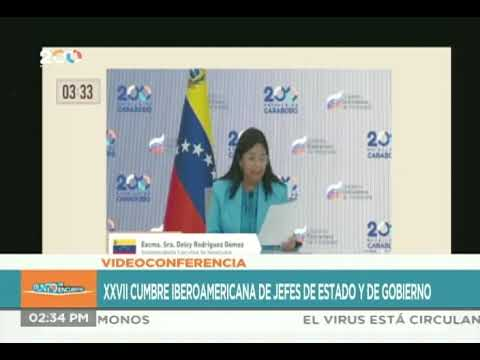 Delcy Rodríguez en la XXVII Cumbre Iberoamericana de Jefes de Estado y de Gobierno