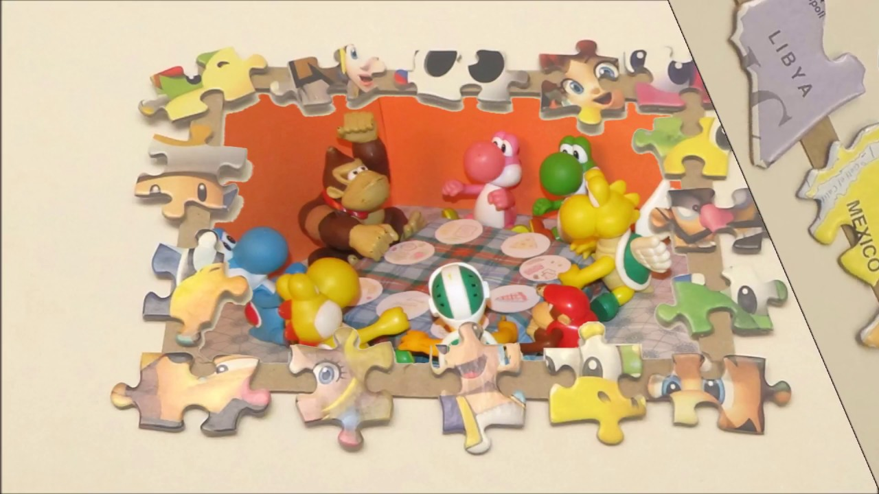 Picture Frame Crafts from Old Puzzle Pieces - YouTube