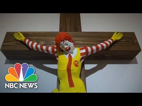 'McJesus' Artwork Sparks Violence In Israel   NBC News
