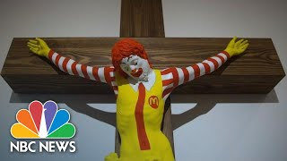 'McJesus' Artwork Sparks Violence In Israel | NBC News