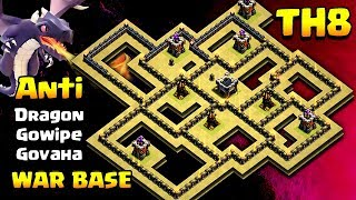 TH8 Anti Dragon War Base - Unbeatable Town Hall 8 Base | Clash of clans
