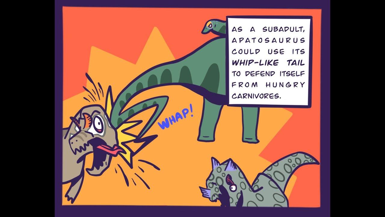 Dinosaur Facts: Apatosaurus Vs Tyrannosaurus Rex (Dinosaur Comic Dub) (Jurassic World Comic Dub)
