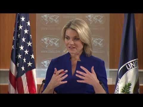 ABD Dışişleri Bakanlığı Sözcüsü Heather Nauert ile Daily Sabah muhabiri arasındaki atışma anı.