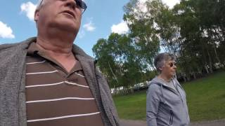 Arriving at Clumber Park Caravan and Motorhome Club Site - Easter 2017 Trip - Day 13