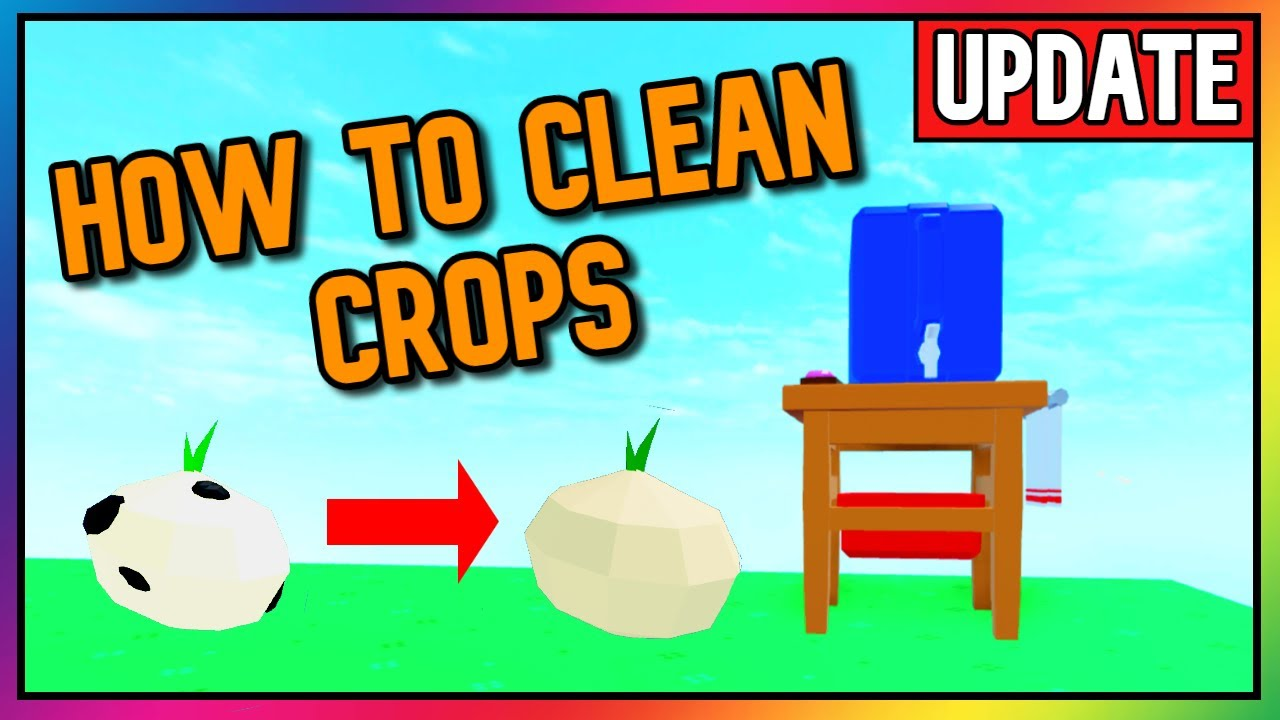 How To Clean Oily Crops Skyblox Update Roblox Youtube