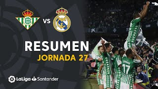 Resumen de Real Betis vs Real Madrid (2-1)