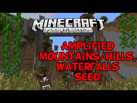 Minecraft PE 0.11.X ::BEST SEED EVER ! AMPLIFIED Mountains, Waterfalls, Extreme Hills :: Seed Review