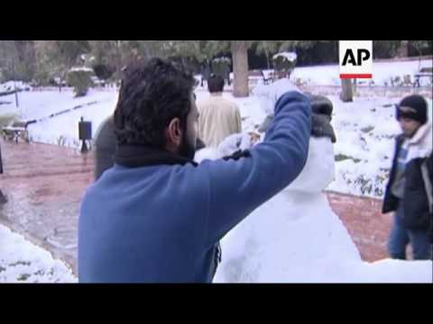 Weather System Dumps Snow On Jordan, Syria And Across Mideast