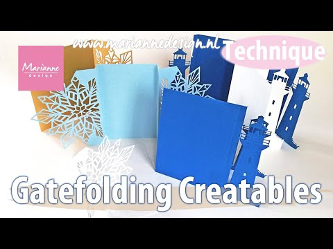 Gate Fold Cutting Dies from Marianne Design
