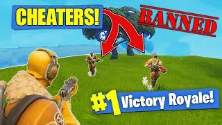 Killing CHEATERS In Fortnite Battle Royale!