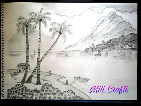 How to sketch pencil shading landscape video mili arts