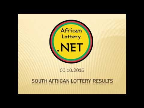 South Africa Lotto results - 05.10.2016