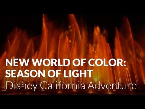 NEW World of Color: Season of Light Premiere - Full Show Front Row - Disney California Adventure