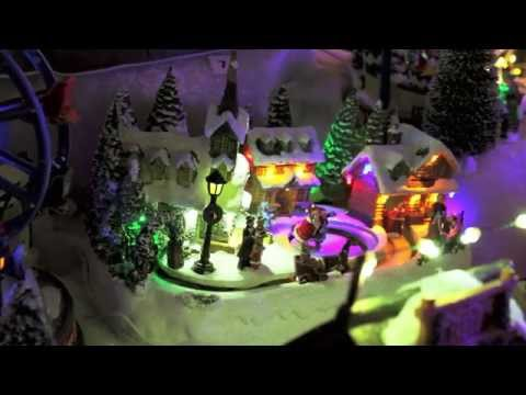 Animated Musical LED Village Scene