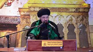 السيد منير الخباز - لماذا يركز الإمام الحسين عليه السلام على نسبه عند مخاطبته الجيش الأموي