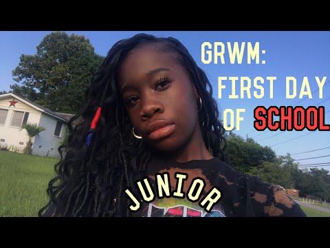 G.R.W.M First Day Of Junior Year // + mini school vlog