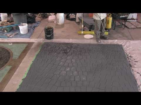 Antique Spray for Stamped Concrete Overlays