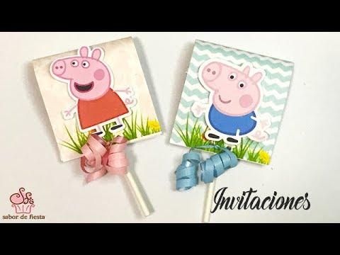 Como Hacer Invitaciones Personalizadas De Peppa Pig Convite De Peppa Pig Sabor De Fiesta