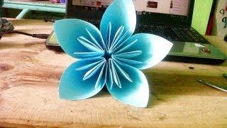 Origami Flor 5 pétalos