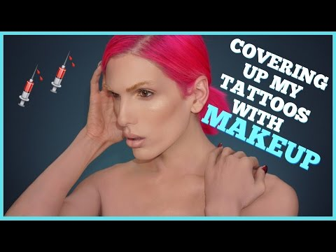 COVERING UP MY TATTOOS WITH MAKEUP  Jeffree Star