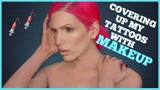 COVERING UP MY TATTOOS WITH MAKEUP | Jeffree Star