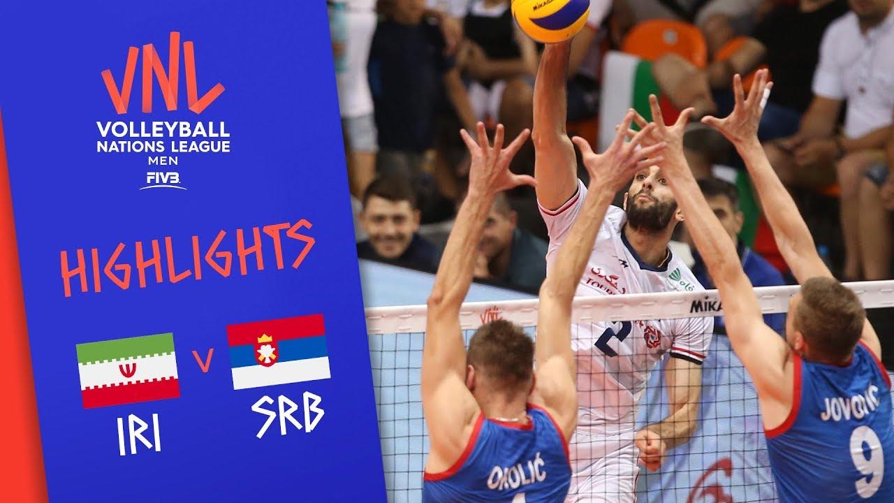 IRAN vs. SERBIA - Highlights Men | Week 5 | Volleyball Nations League 2019