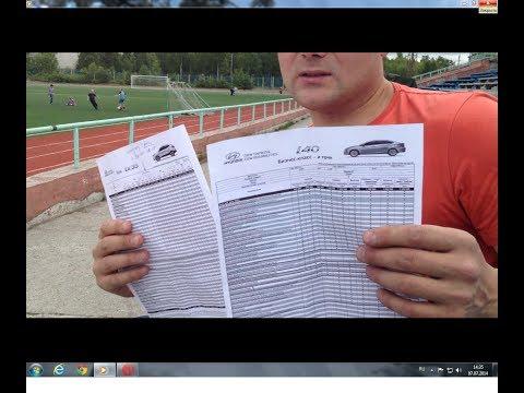 Тест драйв Hyundai i40. Цены и комплектации.