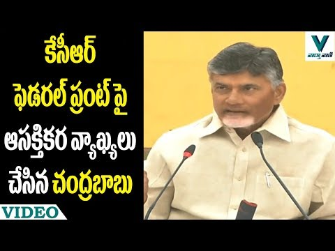 CM Chandrababu Comments on KCR Federal Front - Vaartha Vaani