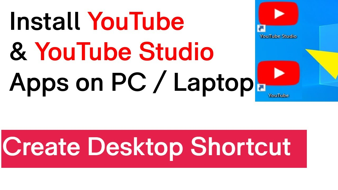 How To Download YouTube App For PC and Laptop  How To Download YouTube  Studio App on PC and Laptop