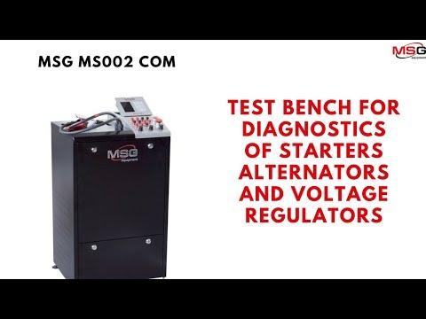 MS002 COM – Test Bench For Diagnostics Of Starters, Alternators And Voltage Regulators