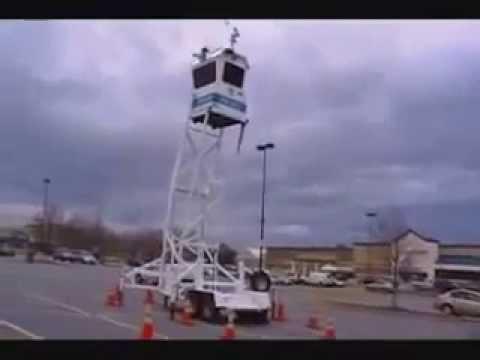 Mobile Prison Guard Tower At Walmart!!! No Way!!!