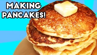 How To Make Pancakes!  Simple Recipe to Make Fluffy Pancakes!