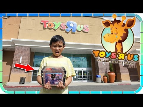 Found ABANDONED TREASURE CHEST Hidden at Toys R Us!!!